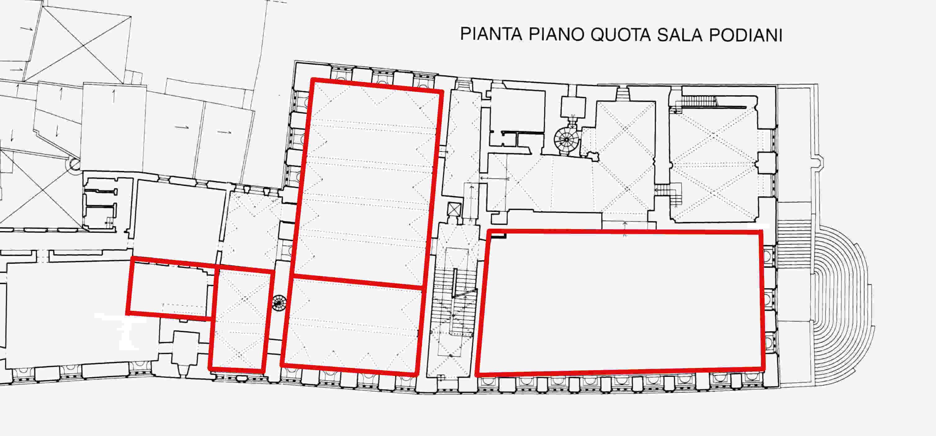 Piante del palazzo dei priori ed elenco delle stanze italiano for Planimetrie del palazzo con sala da ballo